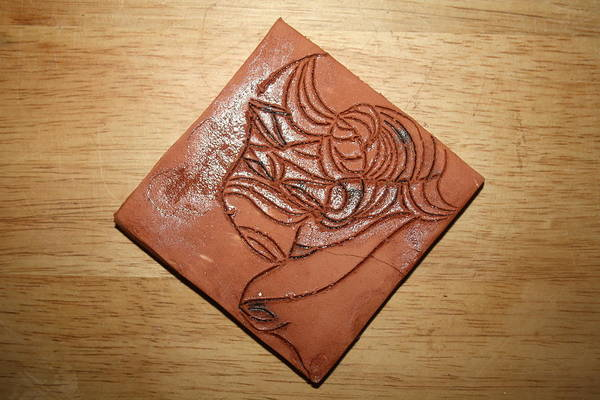 Ceramic Art - Dramaqueen 3 - Tile by Gloria Ssali