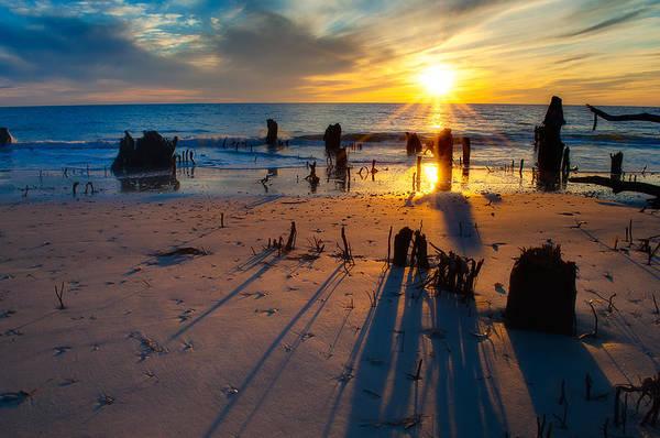 Wall Art - Photograph - Dramatic Beach Sunset by Rich Leighton