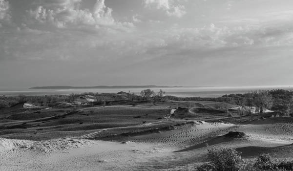 Photograph - Dramatic Black And White Sleeping Bear Dunes Landscape by Dan Sproul