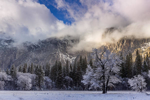 Wall Art - Photograph - Dramatic Clouds Drift Over The Yosemite Valley Following A Passi by Bridget Calip