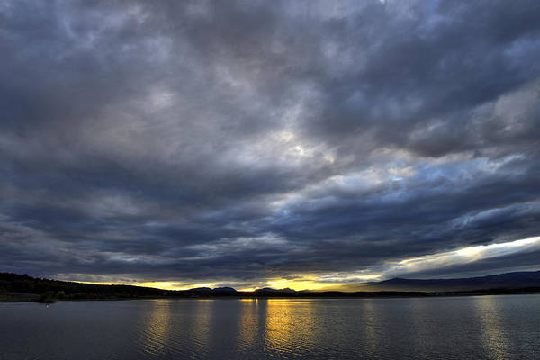 Photograph - Dramatic Clouds Over The Lake by Ivan Slosar