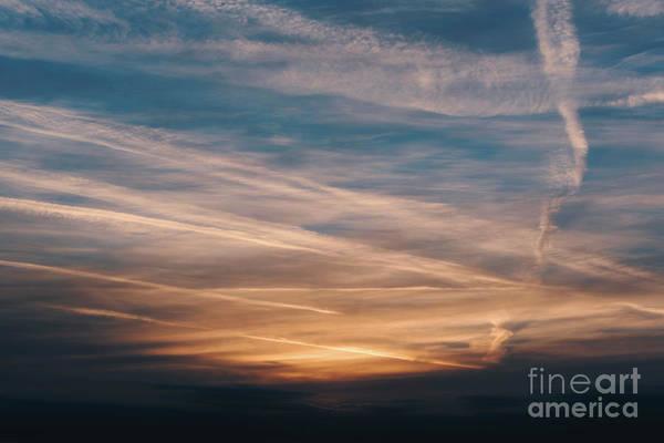 Photograph - Dramatic Golden Sky by Clayton Bastiani
