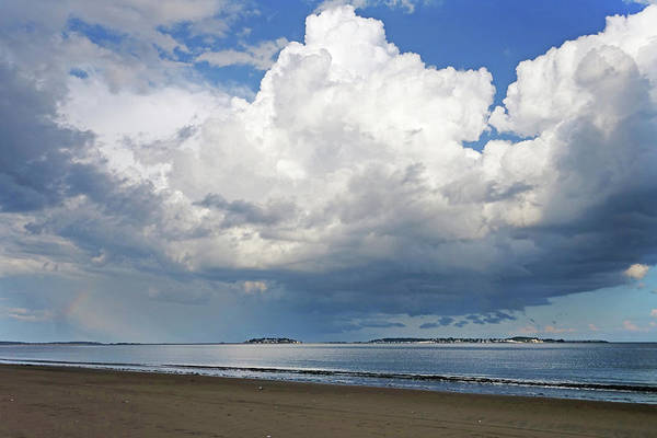 Photograph - Dramatic Puffy Clouds Over Nahant From Revere Beach Revere Ma by Toby McGuire