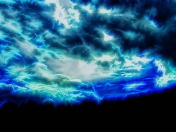 Digital Art - Dramatic Skies Electric by Chris Flees