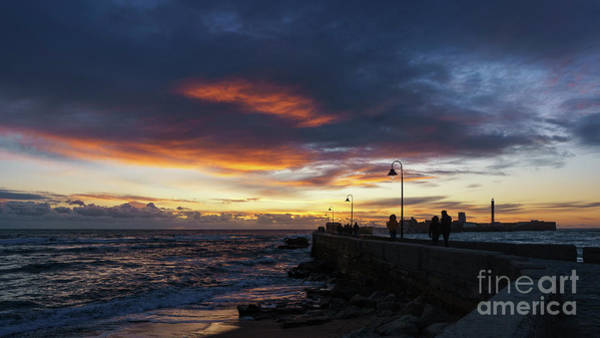 Photograph - Dramatic Sky At The Walkway Cadiz Spain by Pablo Avanzini