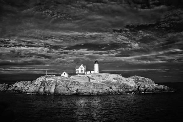 Photograph - Dramatic Sky Cape Neddick Light by Luke Moore
