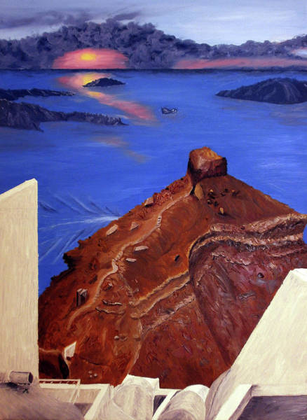 Desolation Painting - Dramatic Sky by Maria Woithofer
