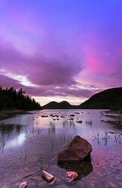 Photograph - Dramatic Sunset At Jordan Pond by Juergen Roth