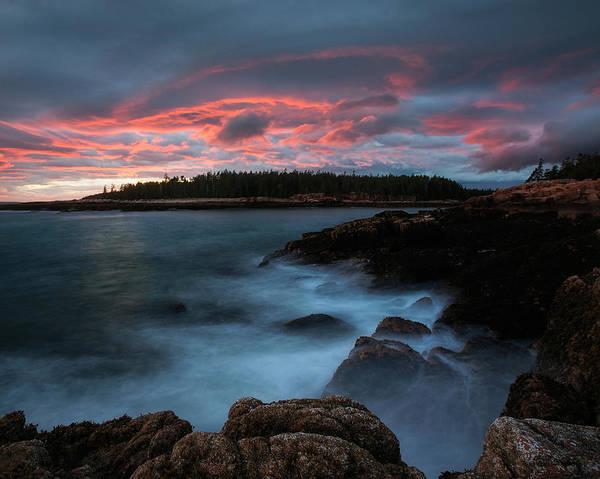 Photograph - Dramatic Sunset At Ship Harbor by Darylann Leonard Photography