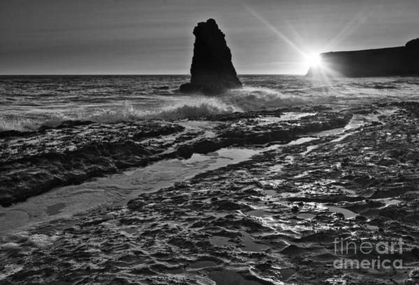 Wall Art - Photograph - Dramatic View Of A Sea Stack In Davenport Beach, Santa Cruz. by Jamie Pham