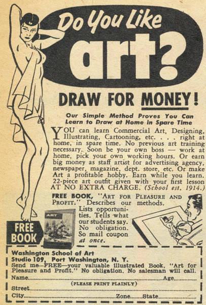 Draw For Money Art Print