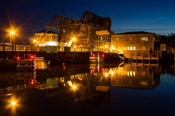 Photograph - Drawbridge Illuminated  by Kirkodd Photography Of New England