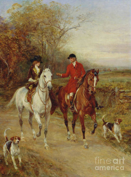 Huntsmen Wall Art - Painting - Drawing Cover by Heywood Hardy