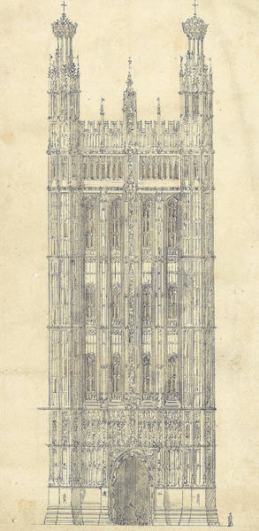 Wall Art - Drawing - Drawing For The Houses Of Parliament by Sir Charles Barry