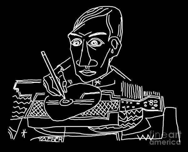 Cool Jazz Digital Art - Drawing Picasso by Robert Yaeger