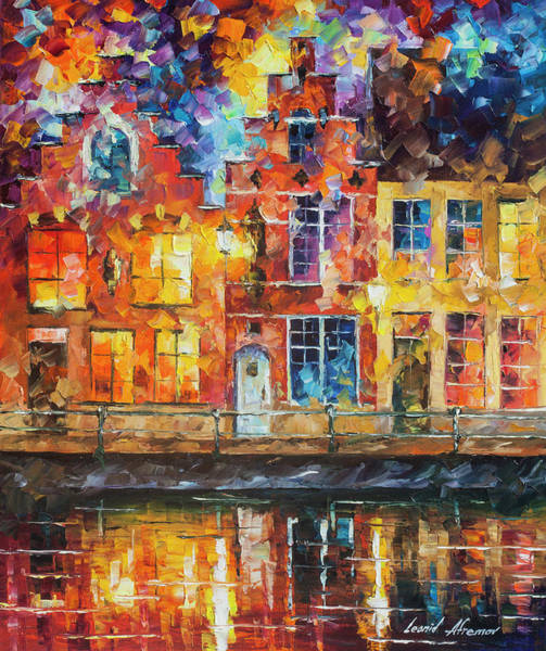 Wall Art - Painting - Drawing The Town  by Leonid Afremov
