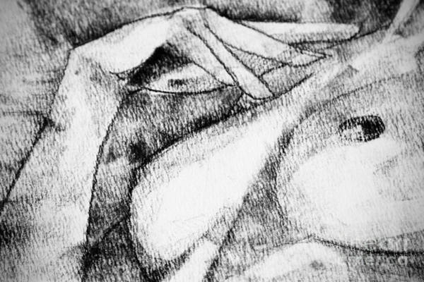 Drawing - Drawing Woman Hand And Breast by Dimitar Hristov