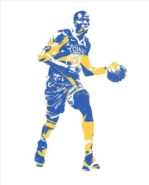 Wall Art - Mixed Media - Draymond Green Golden State Warriors Pixel Art 40 by Joe Hamilton