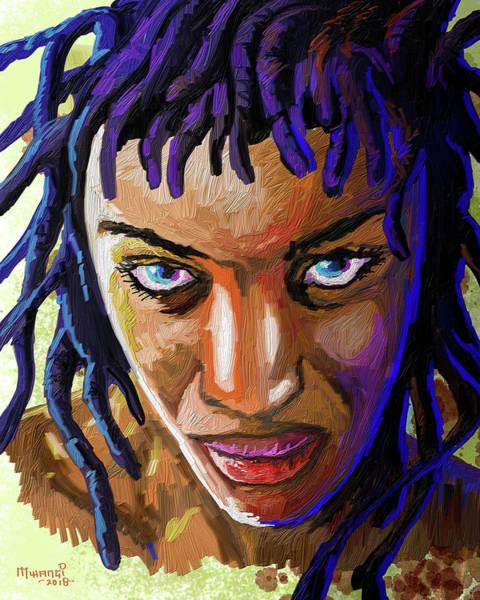 Rasta Painting - Dreadlocks by Anthony Mwangi