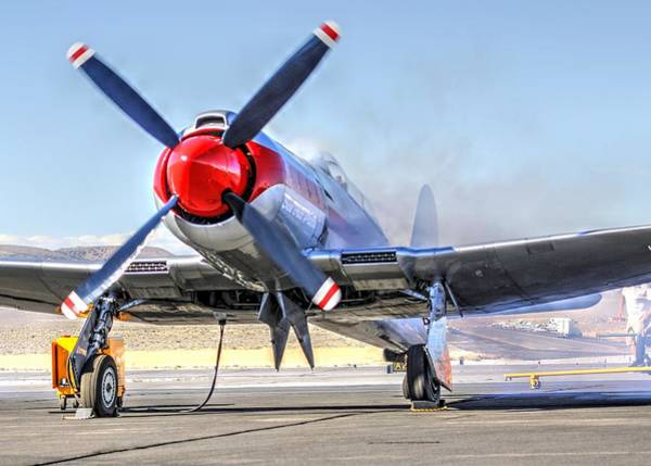 Photograph - Dreadnaught Engine Start Sunday Gold Unlimited Reno Air Races by John King