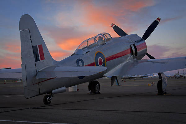 Hawker Sea Fury Photograph - Dreadnought At Sunset by Rick Pisio