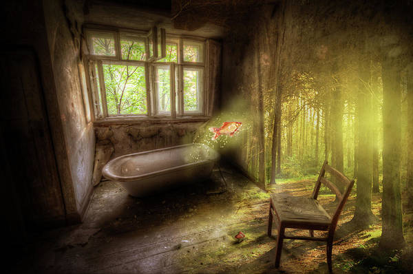 Wall Art - Digital Art - Dream Bathtime by Nathan Wright