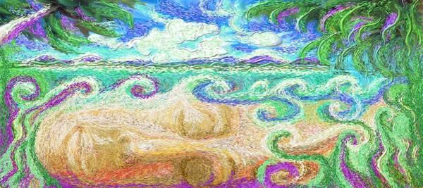 Painting - Dream Beach by Hidden  Mountain