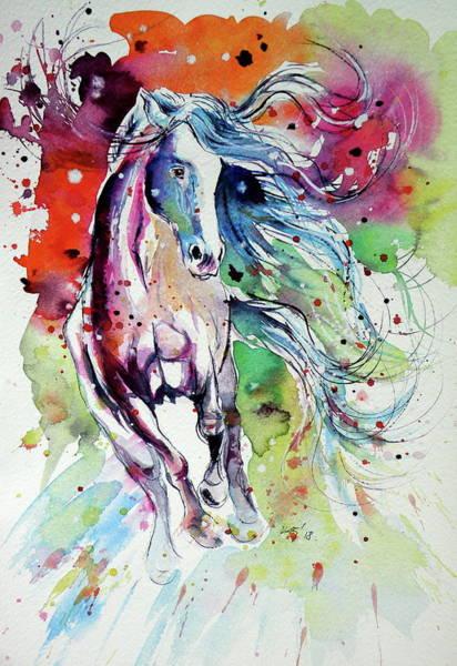 Wall Art - Painting - Dream Horse by Kovacs Anna Brigitta