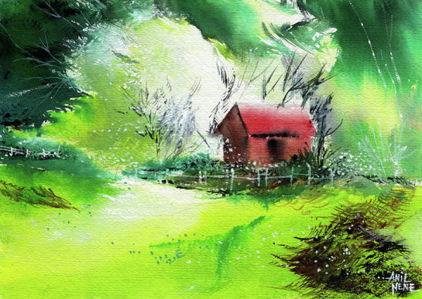 Painting - Dream House 3 by Anil Nene