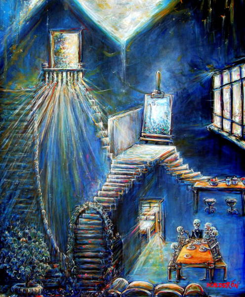 Wall Art - Painting - Dream House by Heather Calderon