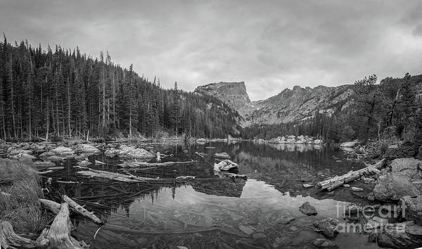 Photograph - Dream Lake Bw by Michael Ver Sprill