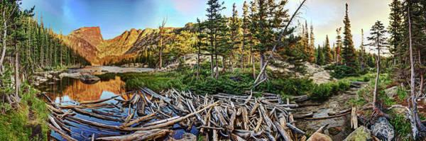 Digital Art - Dream Lake Colorado by OLena Art Brand