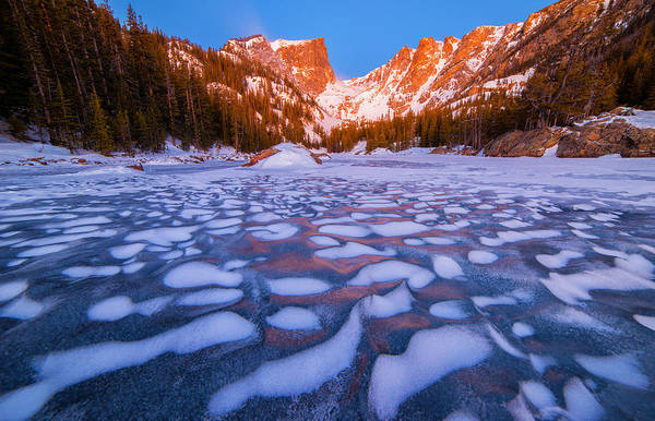 Wall Art - Photograph - Dream Lake Dimples by Darren  White