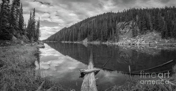Photograph - Dream Lake Panorama Bw by Michael Ver Sprill