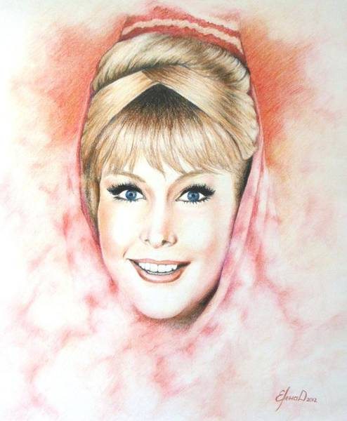 Smoke Fantasy Wall Art - Drawing - Dream Of Jeannie by Yelena Day