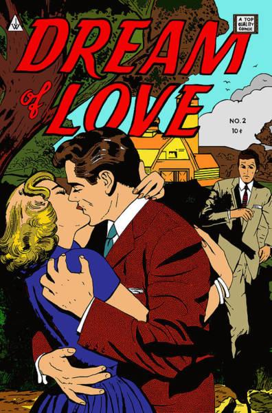 Digital Art - Dream Of Love 2 Comic Book by Joy McKenzie