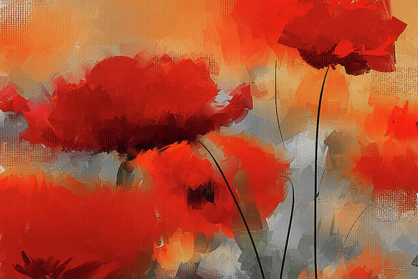 Wall Art - Painting - Dream Of Poppies II by Lourry Legarde