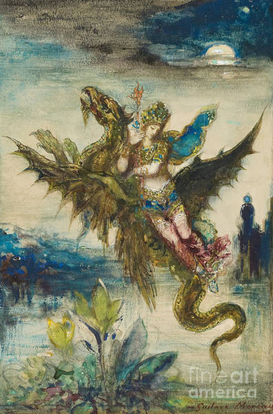 Enchantment Painting - Dream Of The Orient Or The Peri by Gustave Moreau