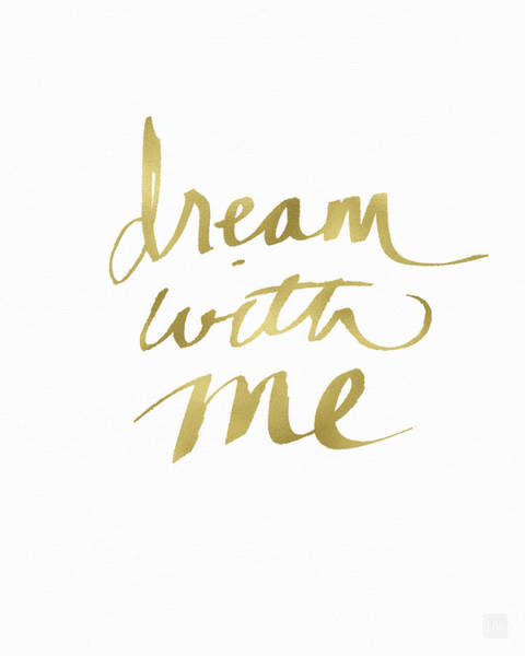 Wall Art - Painting - Dream With Me Gold- Art By Linda Woods by Linda Woods