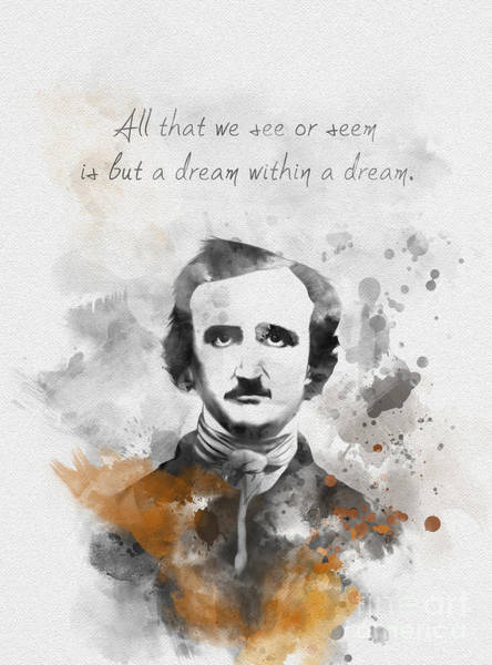 Poe Wall Art - Mixed Media - Dream Within A Dream by My Inspiration