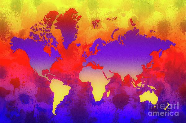 New Trend Digital Art - Dream World Map by Zaira Dzhaubaeva
