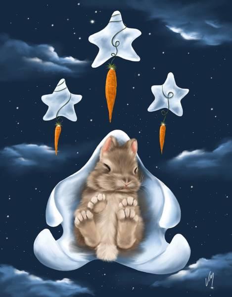 Carrot Painting - Dream World by Veronica Minozzi