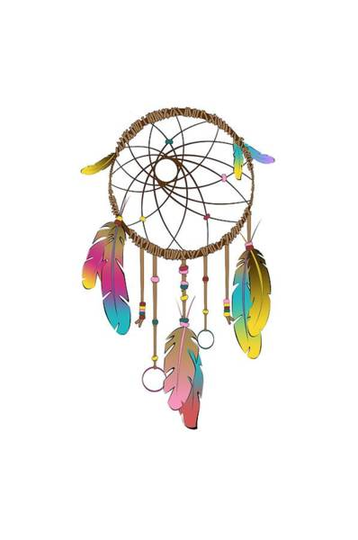 Horse Feathers Digital Art - Dreamcatcher Rainbow by Vanessa-May Dolphin
