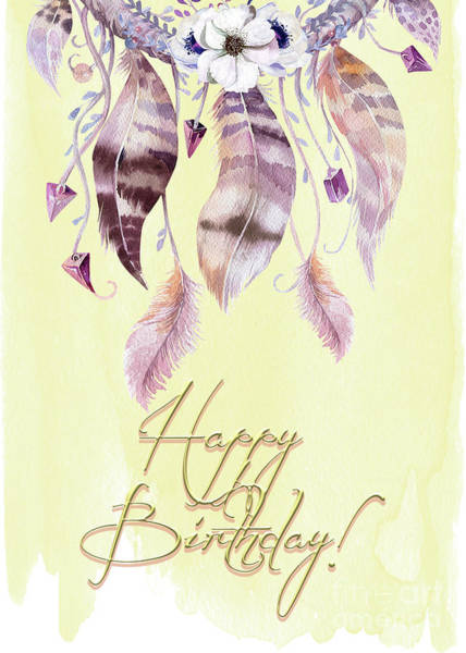 Photograph - Dreamcatcher And Feathers Bd Card by Pam  Holdsworth