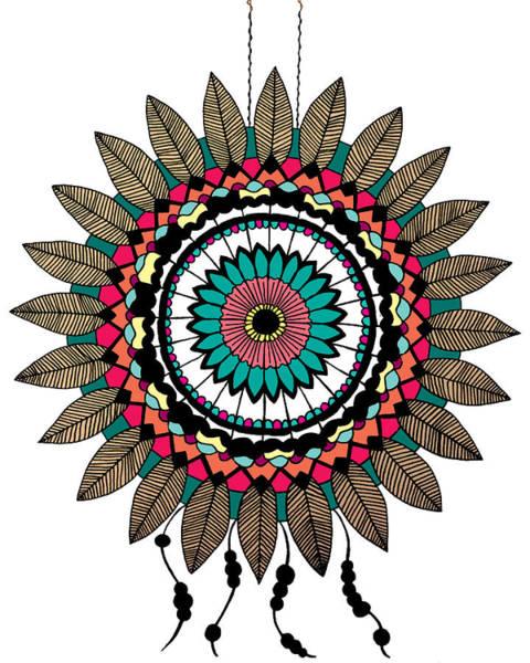 Wall Art - Digital Art - Dreamcatcher Mandala by Elizabeth Davis