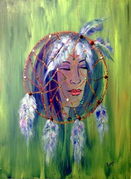 Romo Painting - Dreamcatcher by Robin Monroe