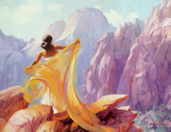 National Wall Art - Painting - Dreamcatcher by Steve Henderson