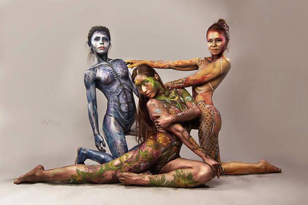 Bodypaint Wall Art - Photograph - Dreamcatcher Xvii by David April