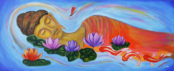 Painting - Dreaming Buddha by Diana Haronis
