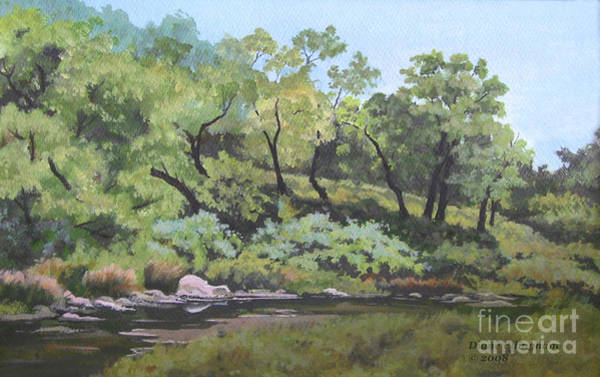 Painting - Dreaming By The Creek by Diane Ellingham